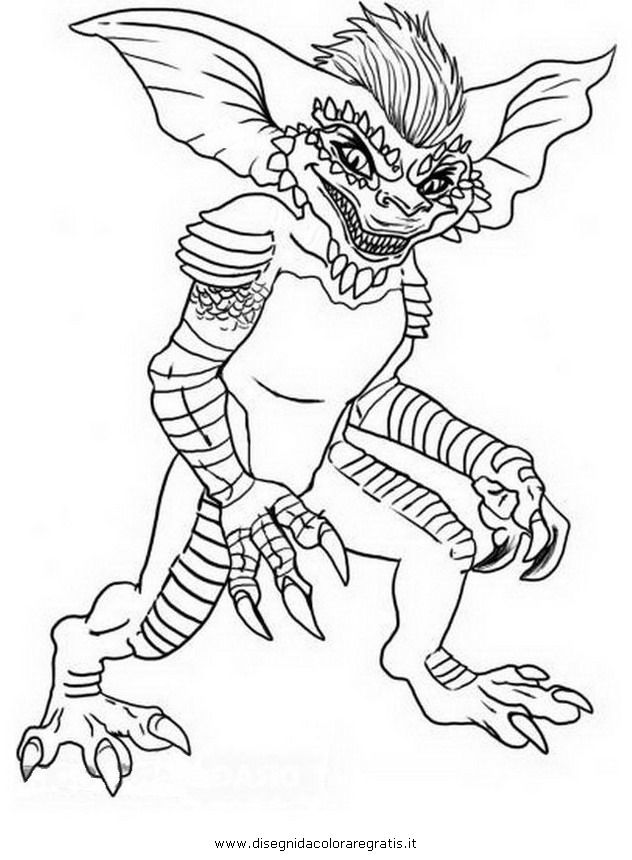 Gizmo Gremlins Coloring Pages  Gremlins  Pinterest  Coloring