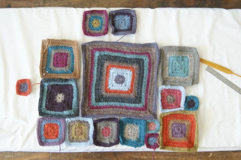 "Inspiration :: Colors for a ""Babette"" blanket in alpaca yarn #crochet"