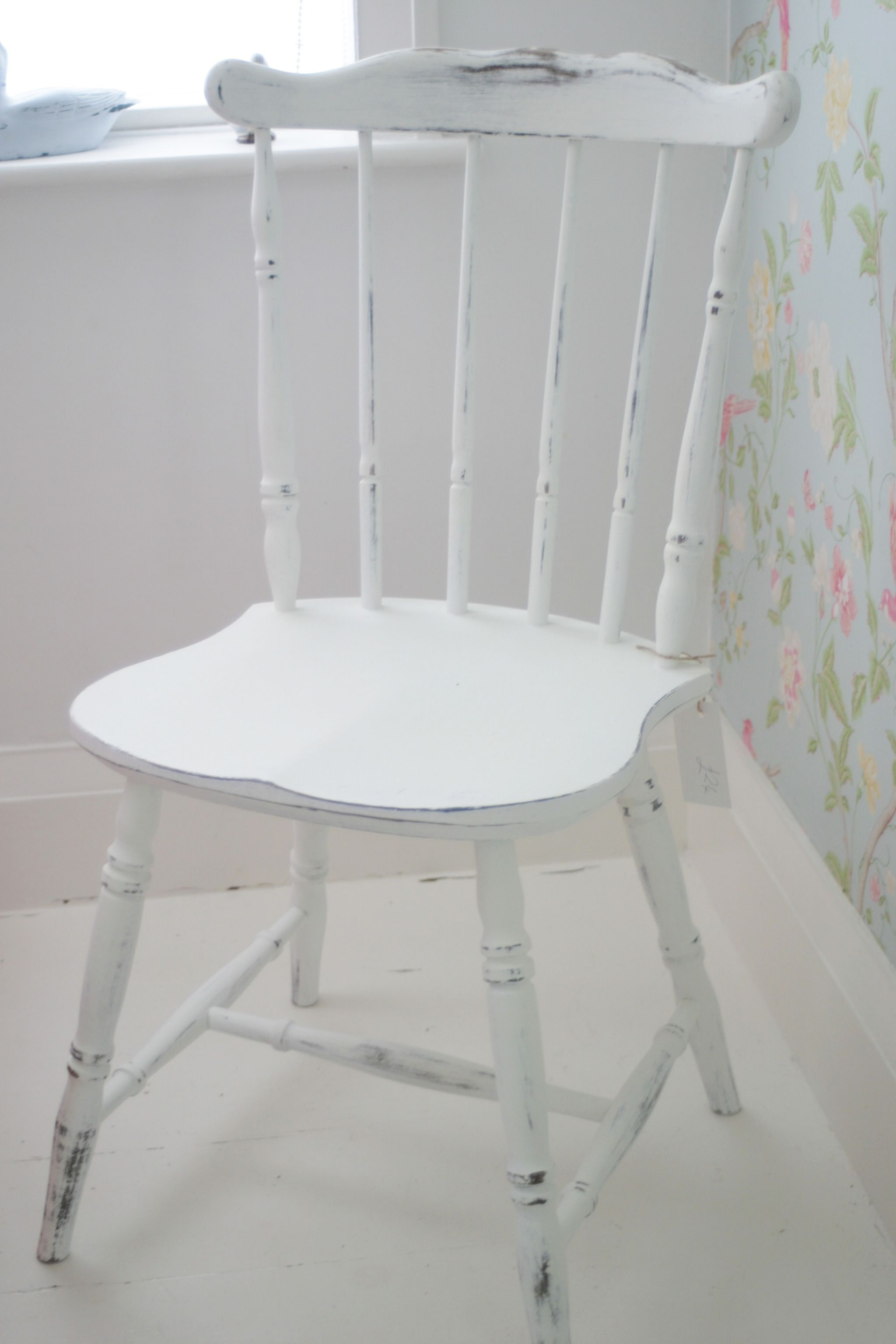 Farmhouse chair.  Repainted, distressed and waxed - SOLD