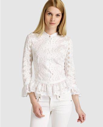 4357921f4 Blusa de mujer Polo Ralph Lauren en tejido bordado | Moda en 2019 ...