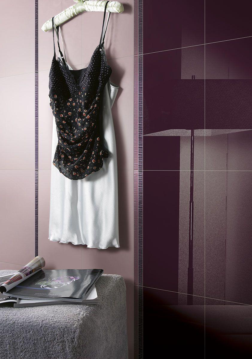 Classique fa ence et carrelage pour murs carrel s salle de bains espace aubade deco salle for Carrelage gris mur prune