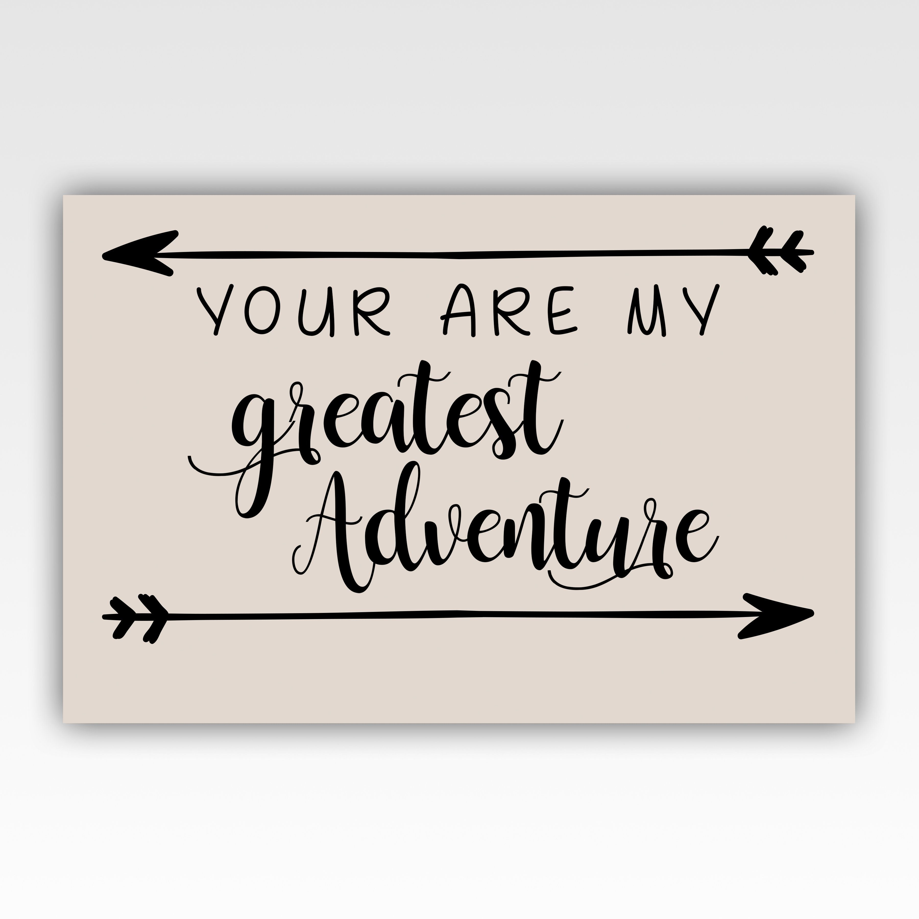 Personalized!! You Are My Greatest Adventure Romantic Couple Gifts Canvas Wrap Wall Art Decor Print