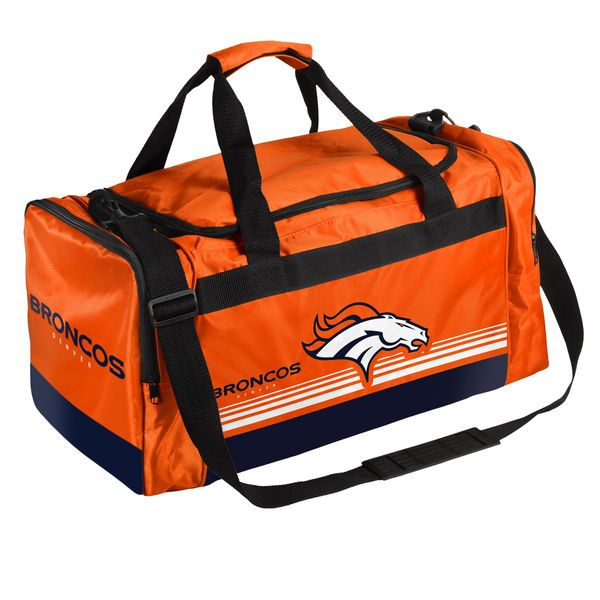 Denver Broncos Medium Striped Core Duffle Bag -  29.99  6ee5b6d6a617c
