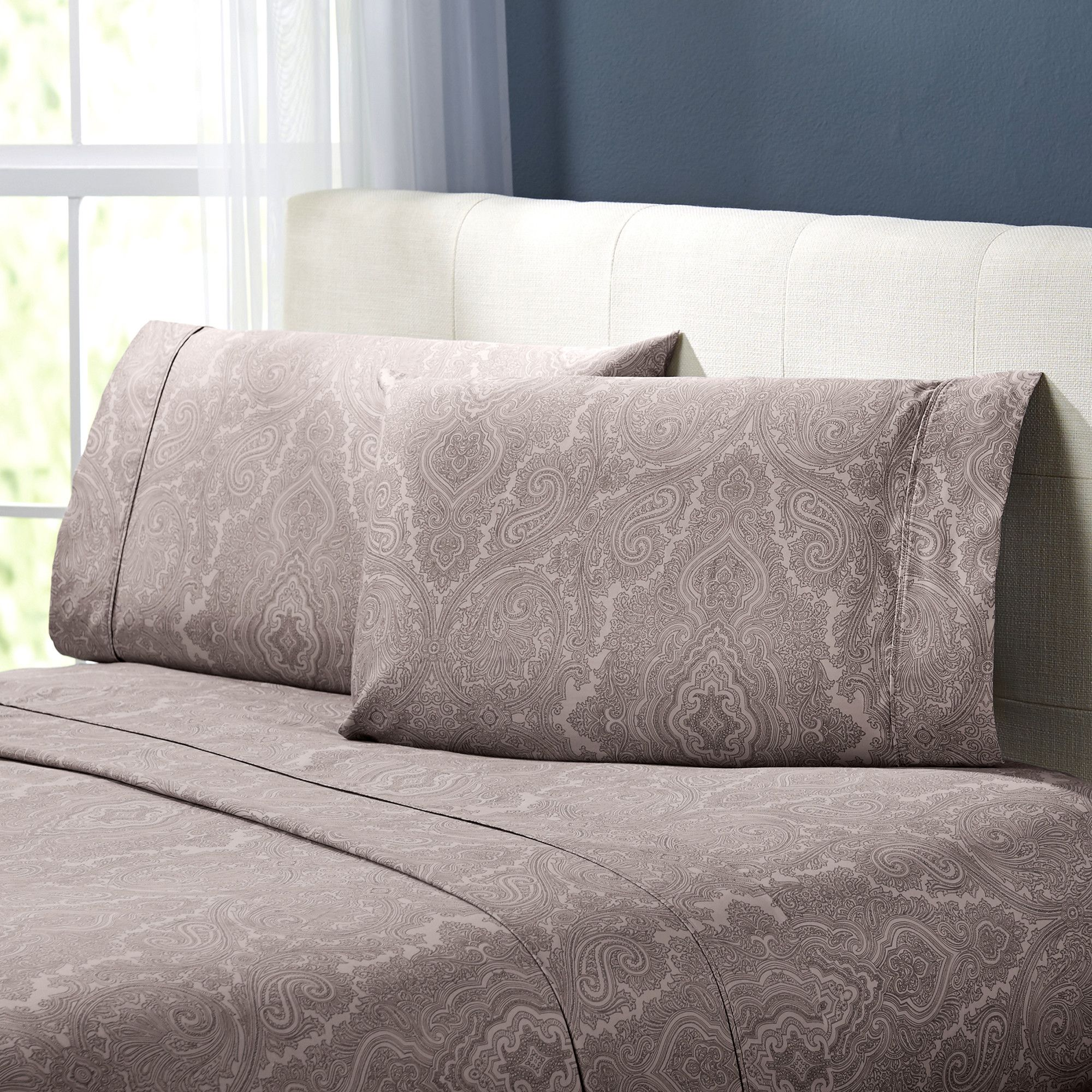 Paisley thread count cotton sheet set products pinterest