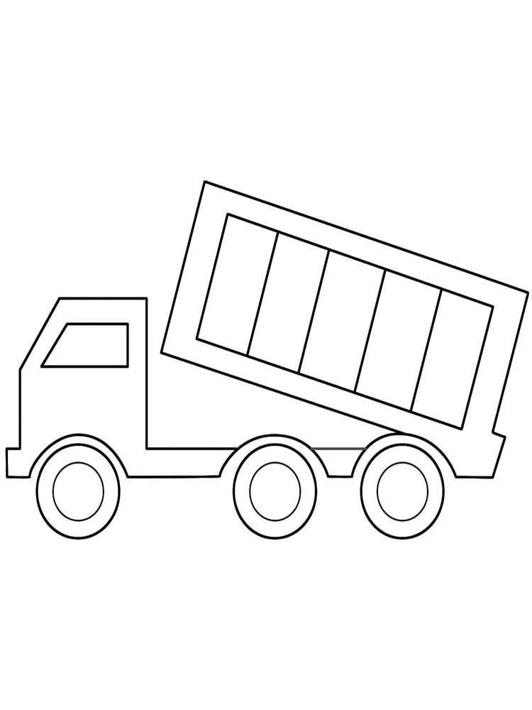 Printable Cute Dump Truck Coloring Page Dump Truck Coloring Page To Download And Coloring Here I Truck Coloring Pages Coloring Pages Printable Coloring Pages