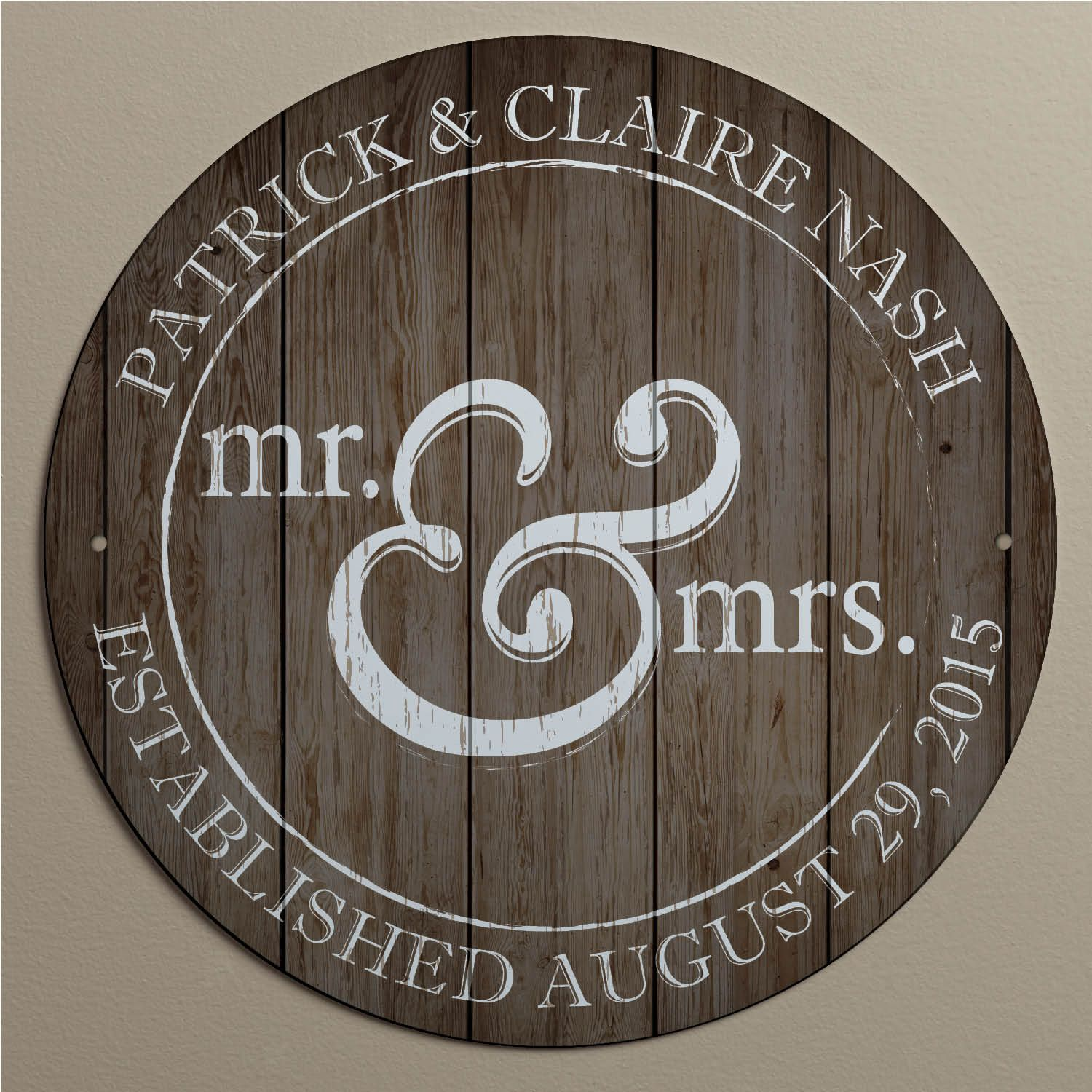 Mr Mrs Personalized Metal Sign For The Couple Wedding