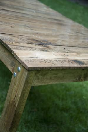 Reclaimed Wood Farmhouse Outdoor Dining Table Simple