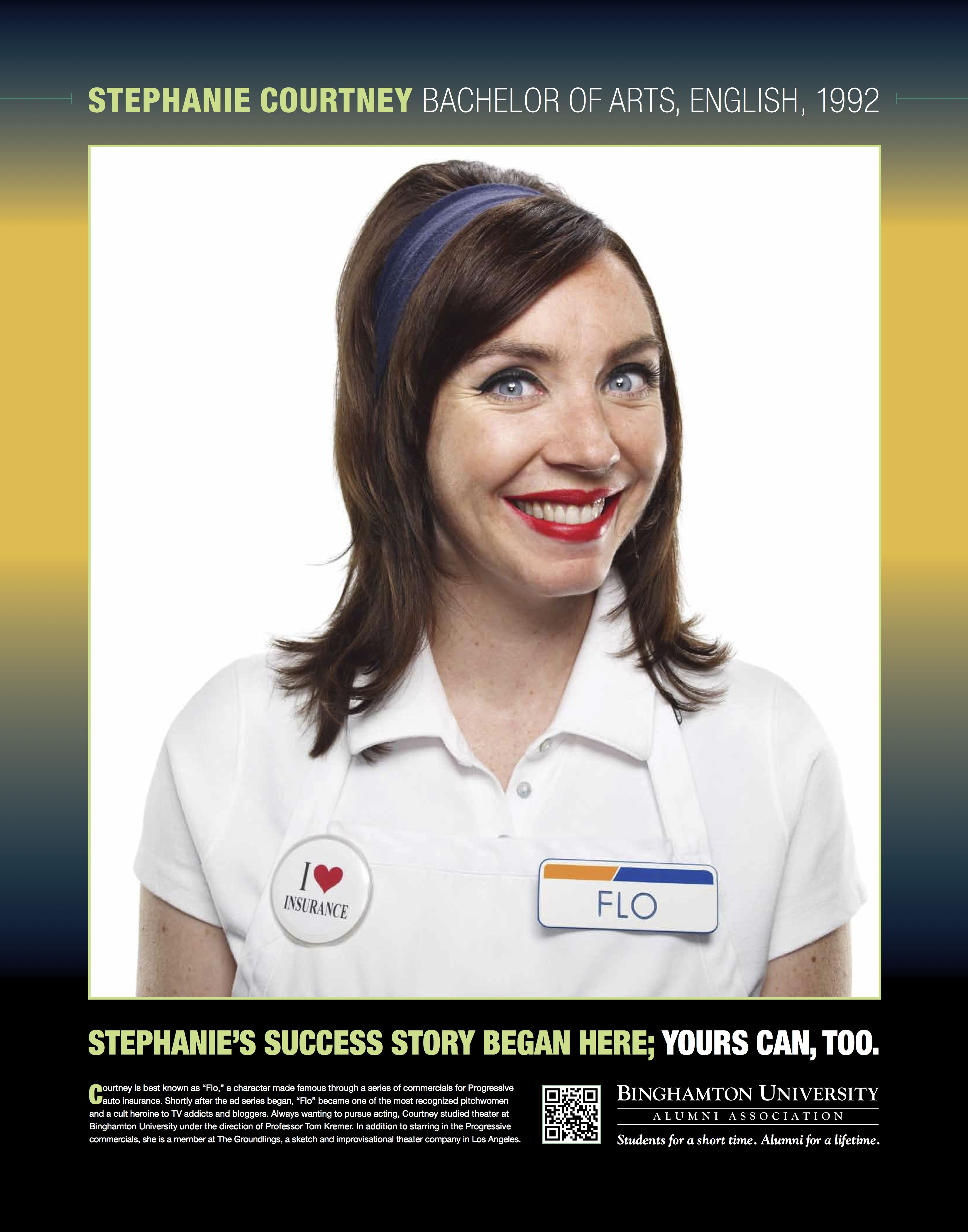 "Stephanie Courtney is best known as ""Flo,"" a character"