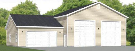 60x40 2RV 2Car Garage 60X40G1A 2257 sq ft Excellent Floor – 60 X 40 Garage Plans