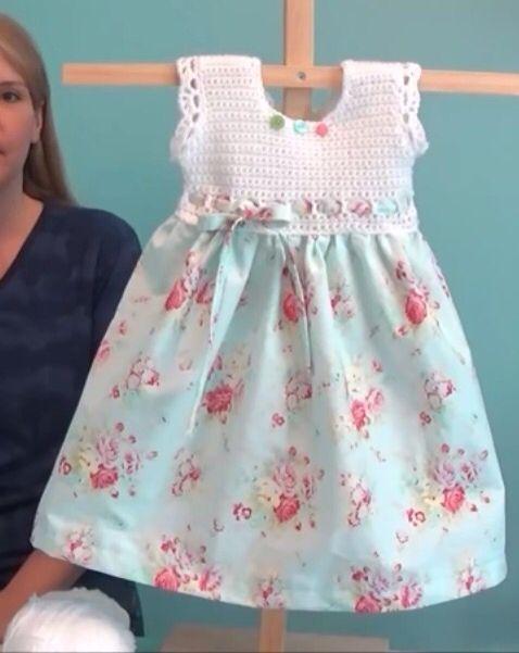 Photo of Vintage pillowcase baby dress. You Tube youtu.be/0TRBaor9snE