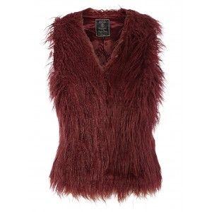 zwart fluffy vest