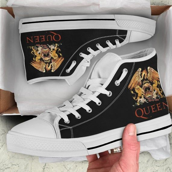 Queen Band Shoes, Music Custom High Top, Gift Shoes | Queen
