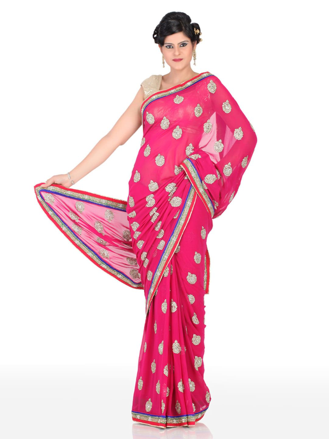 80ff6326f Myntra Sarees Offers - Satrang Selection of 2 Sarees Rs.750 From Myntra.com