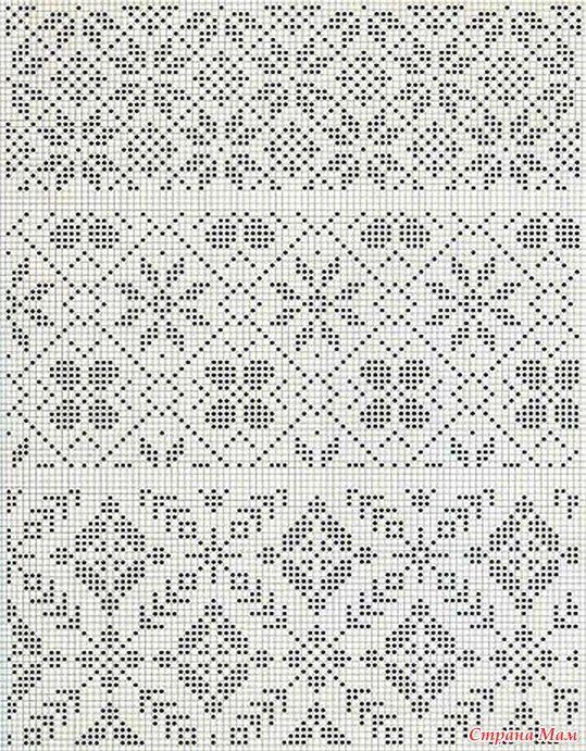 Схемы норвежских узоров | Patrones | Pinterest | Motivo de ganchillo ...
