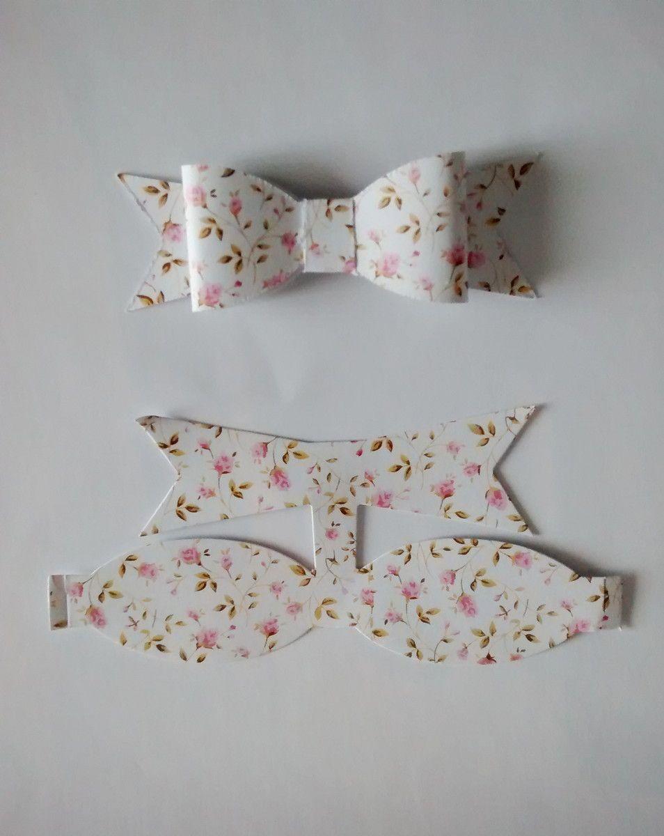 patrón para lazos de papel ties pattern for paper modelo de