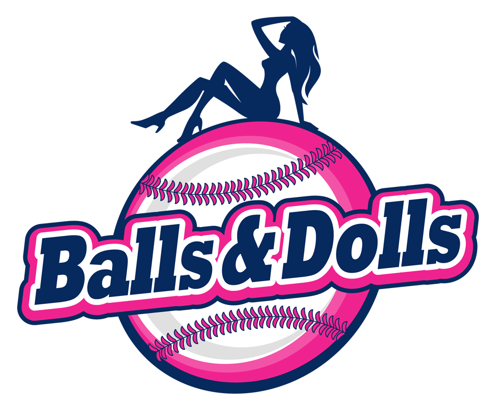 Balls Dolls Baseball Team Logo Design With A Bit Of Sexiness In It Pink And Girly Sports Logo Design Logos Sports Logo