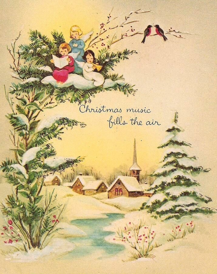 Vintage Christmas Card Vintage Christmas Pinterest Navidad - Vintage-navidad