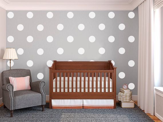 Sale 25 Off 5 White Polka Dot Vinyl Wall Decals Kit Of 40