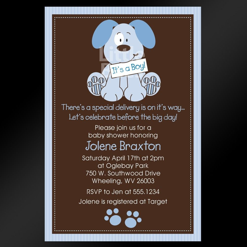Cute puppy dog printable baby shower invitation 1299 via etsy cute puppy dog printable baby shower invitation 1299 via etsy filmwisefo