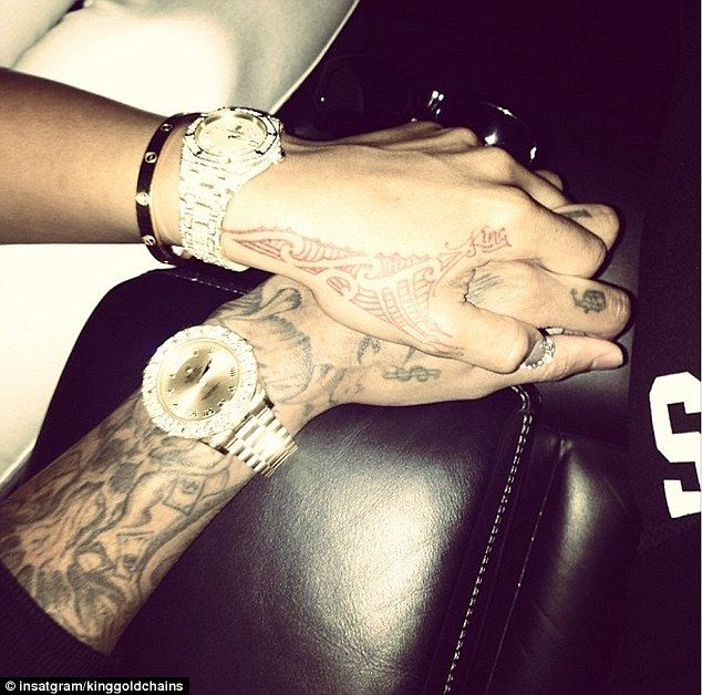 Tyga Back Tattoos