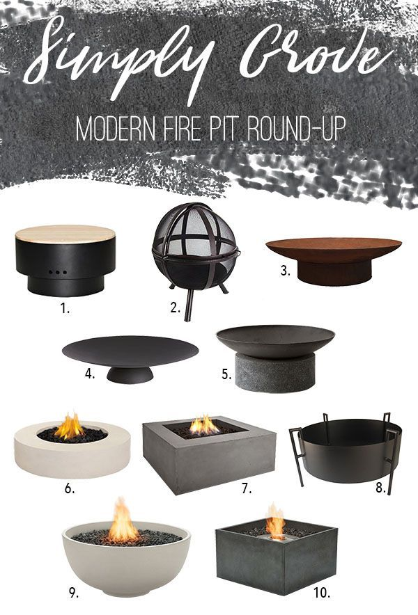 Photo of Fire Pit Round-Up via Simply Grove