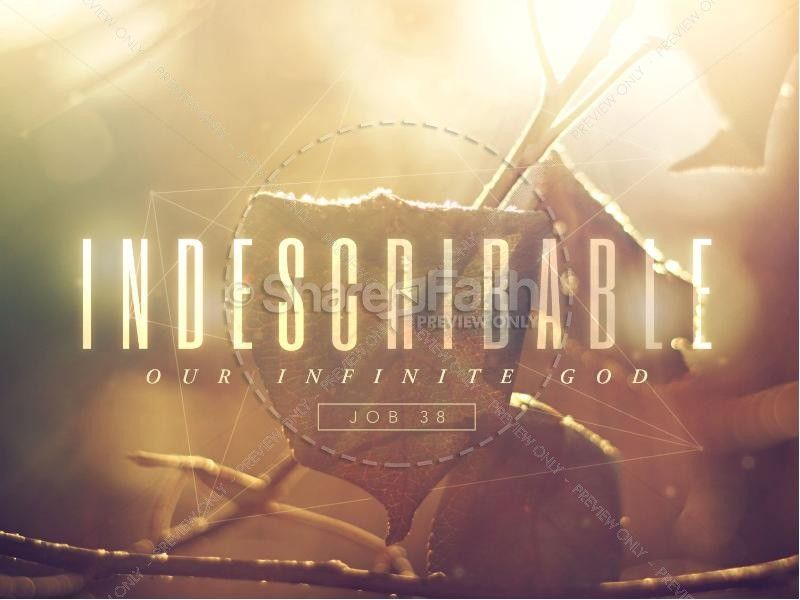 Indescribable Christian PowerPoint | Sermon Graphics for