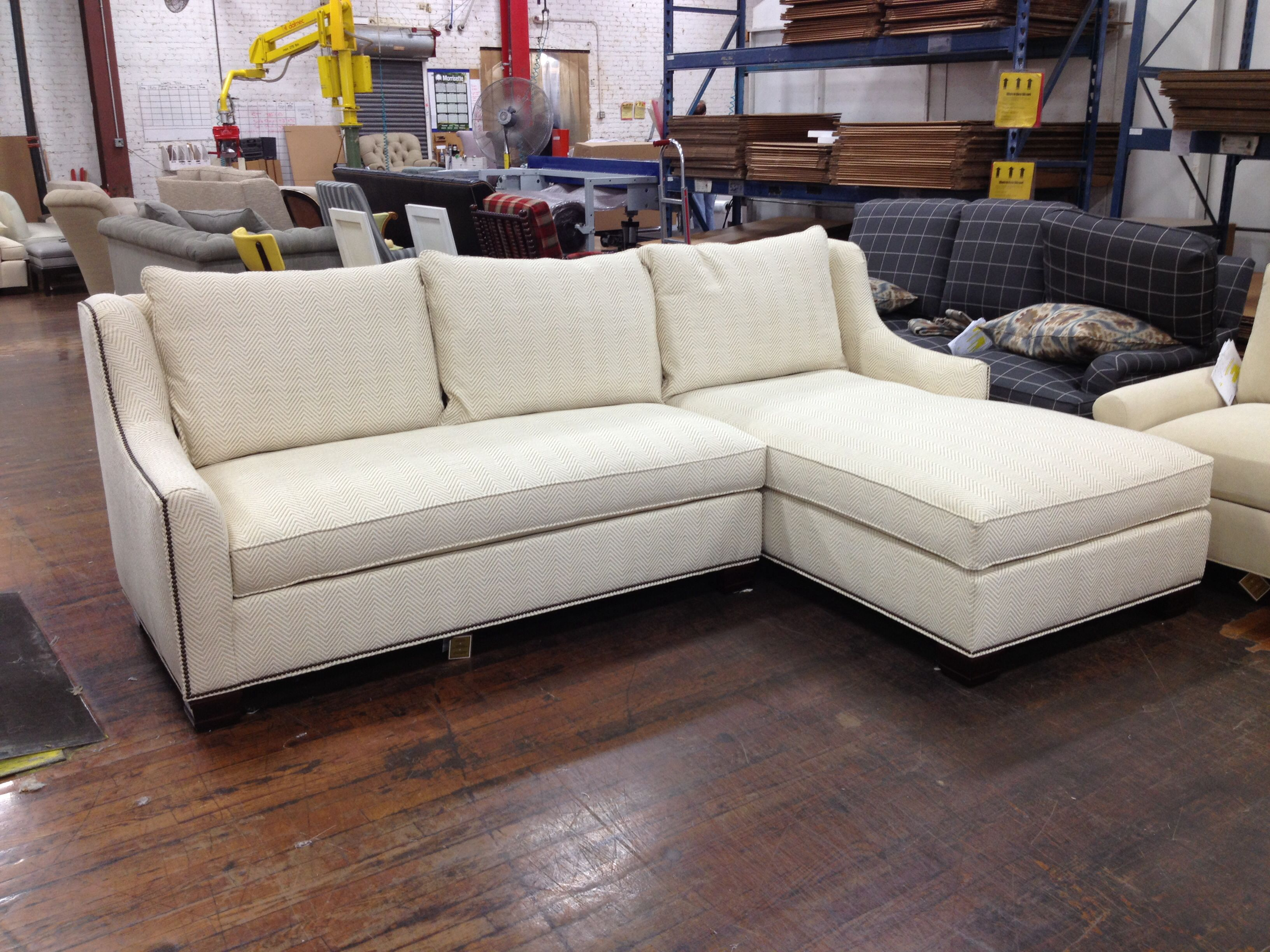 A custom Sutton Sectional made to order from the Sutton