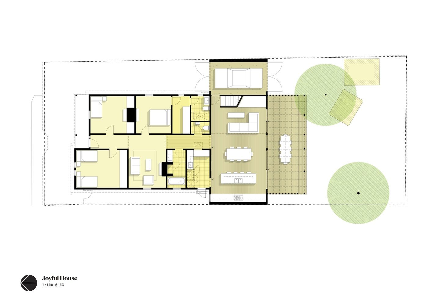 This Joyful House Brings In Light And Opens Onto The Garden Floor Plans Ground Floor Plan How To Plan