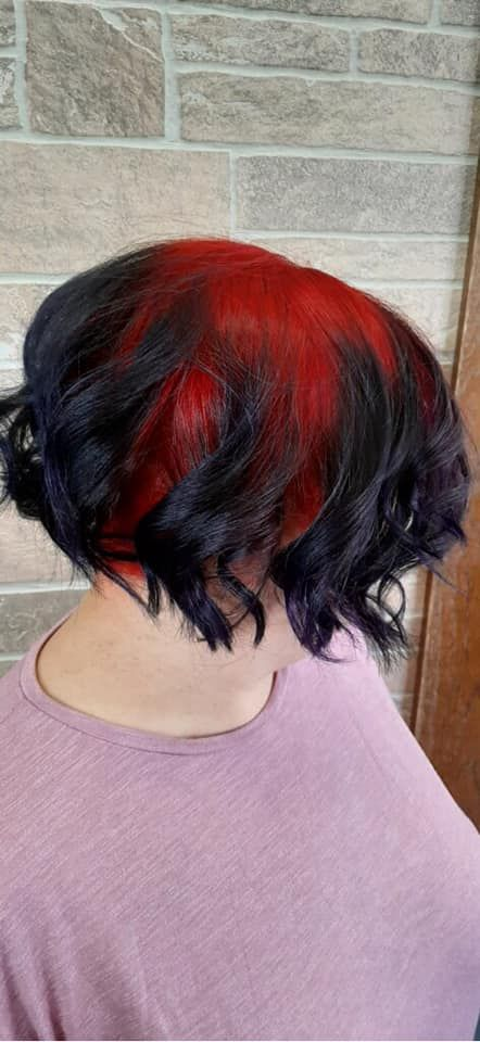 Red & Black Hair Color