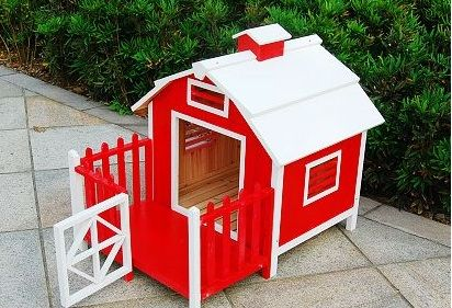 Red Wood Pet Dog House Pet Dogs Pets Dog Houses