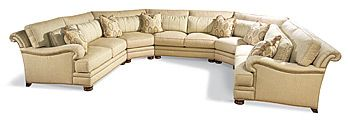 Taylor King Furniture Brentwood 8910 sectional Curved armless