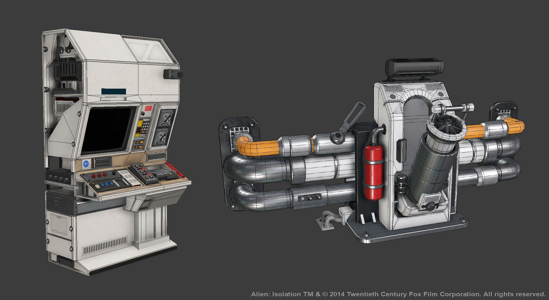 Alien Isolation Assets | 3D Props | Alien isolation, Sci fi