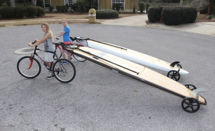 Storing Bikes On Boats: SUP Wheels SUP And Surfboard Trailer
