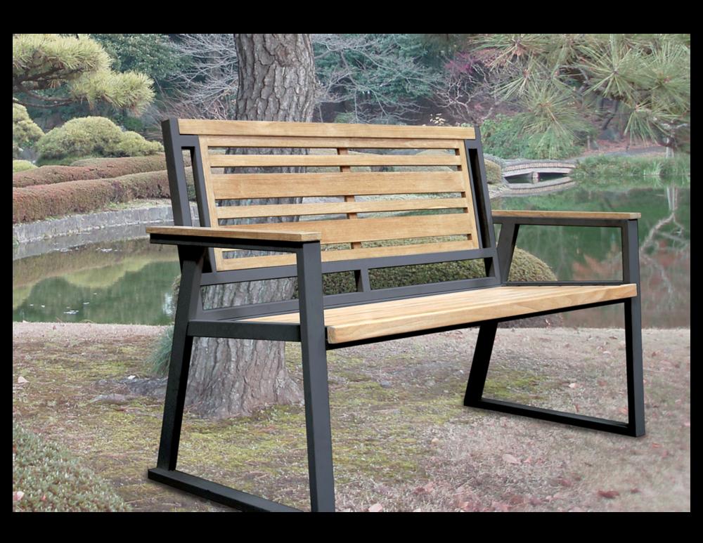 Clic Indoor Outdoor 2 Seater Natural Solid Teak Bench