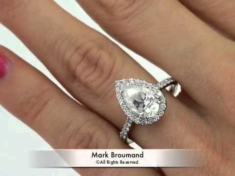 3 46ct Pear Shape Diamond Engagement Anniversary Ring Mark Broumand