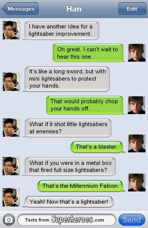 Texts From Superheroes Star Wars Humor Star Wars Memes Star Wars Fandom