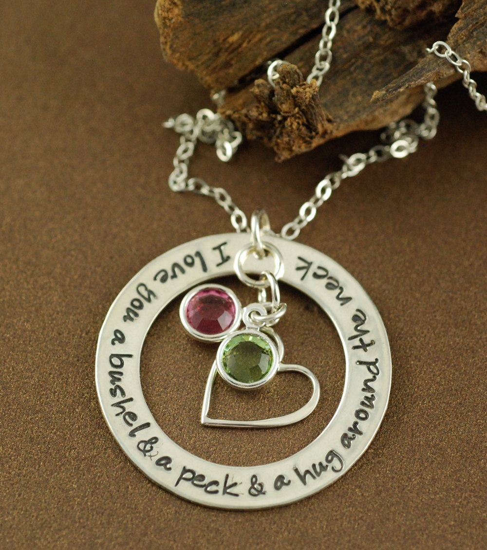 I Love You A Bushel And A Peck Necklace Birthstone