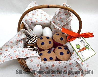 breakfast basket felt food - best idea: felt sunny side up eggs inside plastic easter egg containers