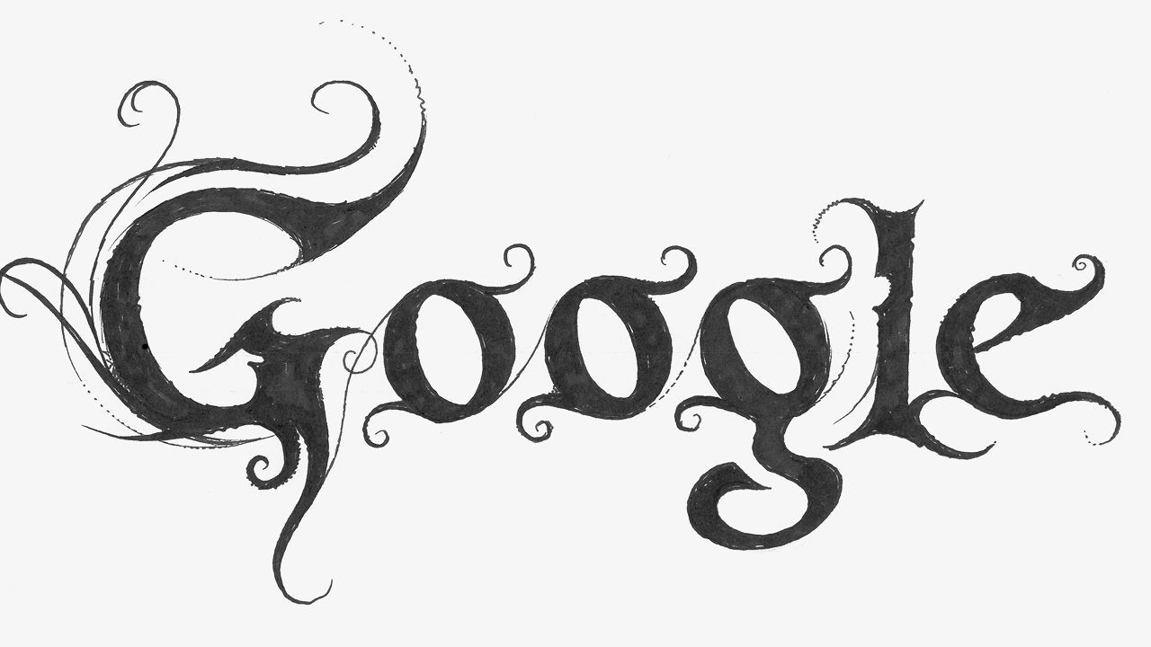 Google Logo Designed with Wizard Font HD Wallpaper