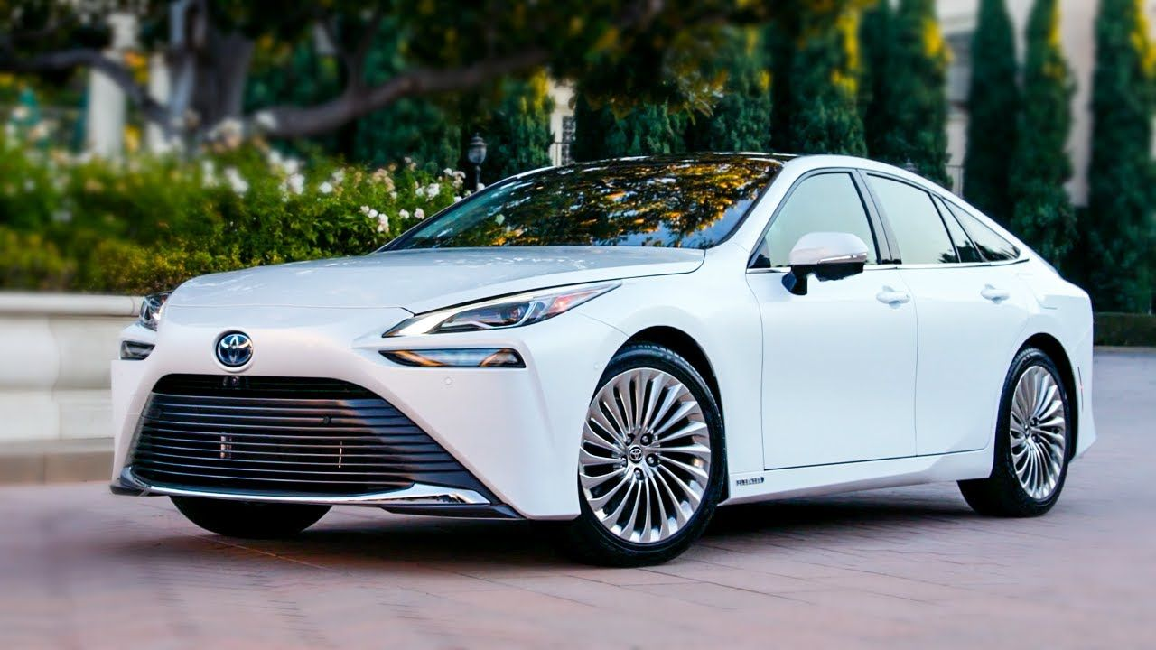 2022 Toyota Mirai Limited Interior Exterior Drive Oxygen White Toyota City Car Driving