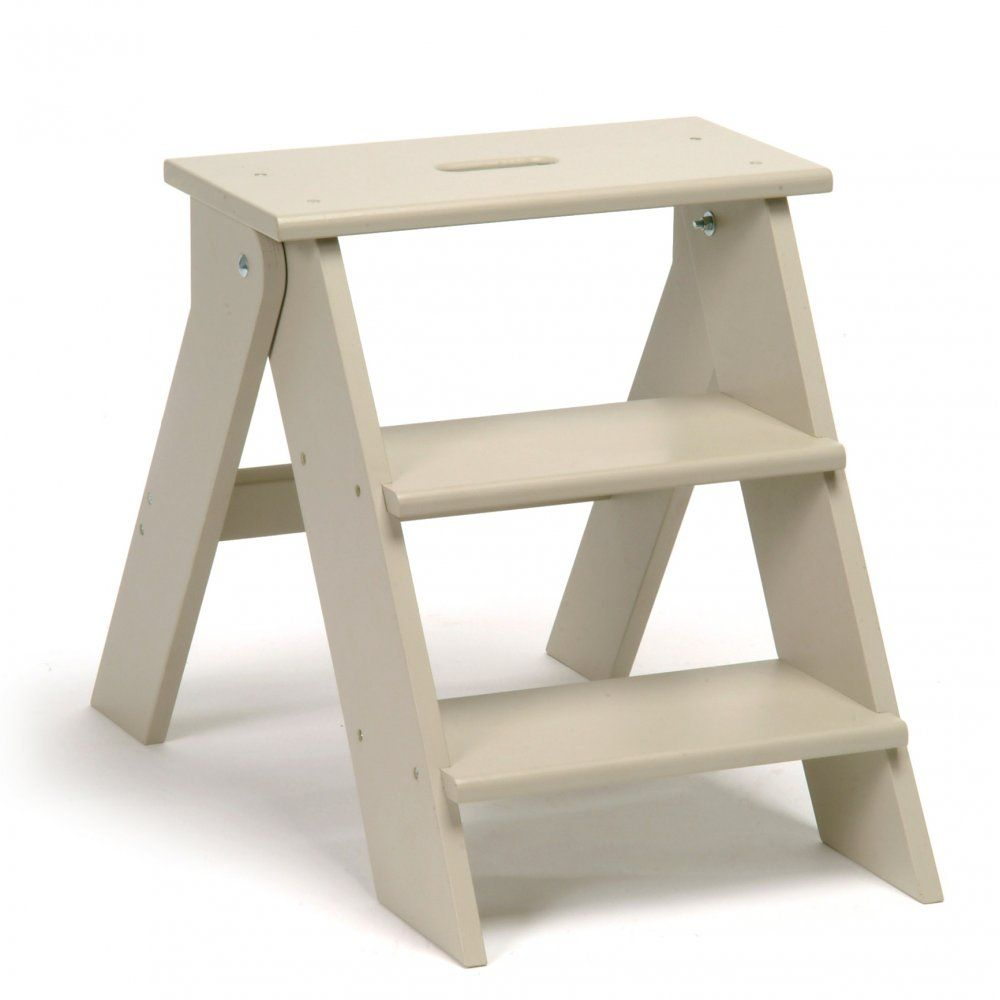Version 2 Betty Twyford Wooden Step Stool Folding Kitchen Stool