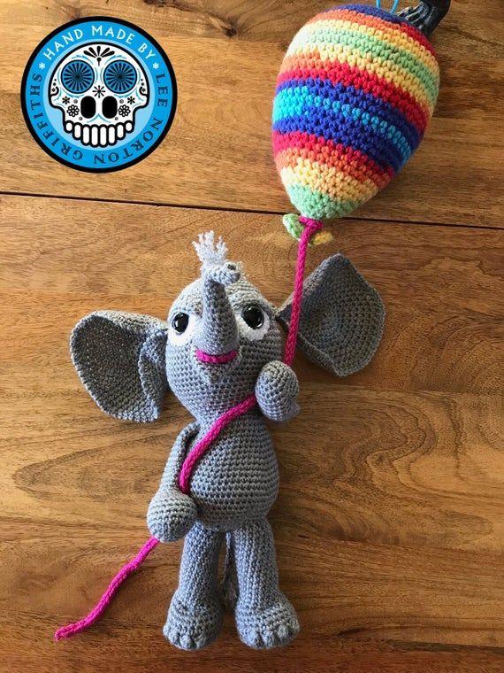 amigurumi elephant pattern, crochet elephant pattern, elephant pattern, balloon pattern, crochet pat #crochetelephantpattern