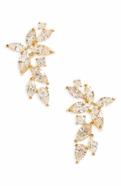 Nadri Papillon Crystal Ear Crawlers Fall 2017 Wedding Pinterest
