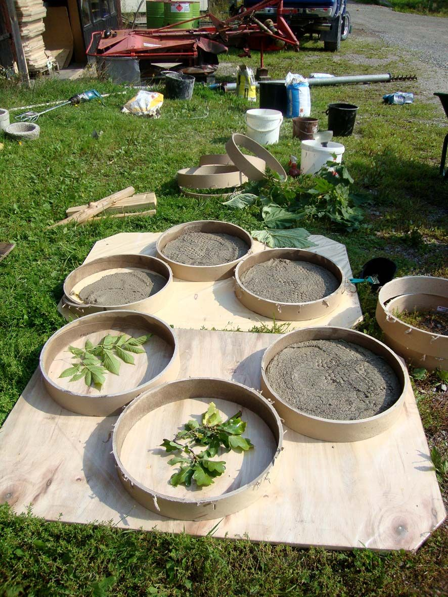 - Concrete projects for the garden ...