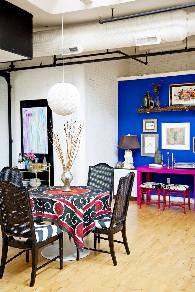 wandgestaltung mit farbe blau schattierungen, pink and blue accent wall - google search | home sweet apartment, Design ideen