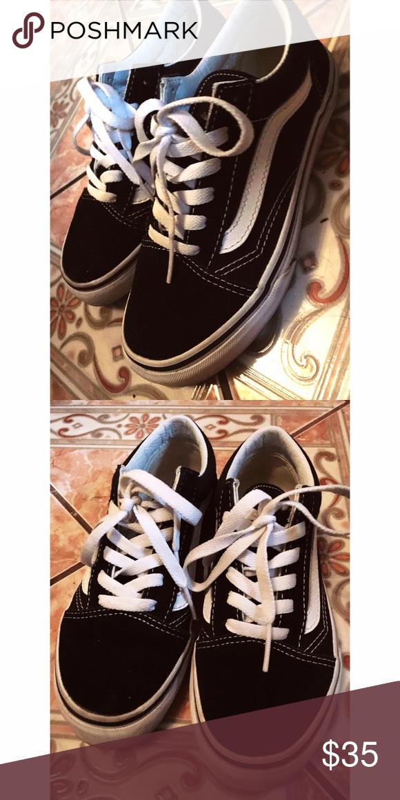 07f80012d2 Vans Old Skool black size 3 Vans old skool. Black and white. Size 3 in kids  5.5 women 36 European. Worn 4 times. Vans Shoes Sneakers