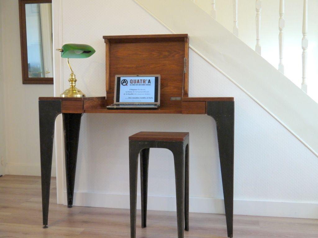 La console gazelle de quatr a qui se transforme en bureau en