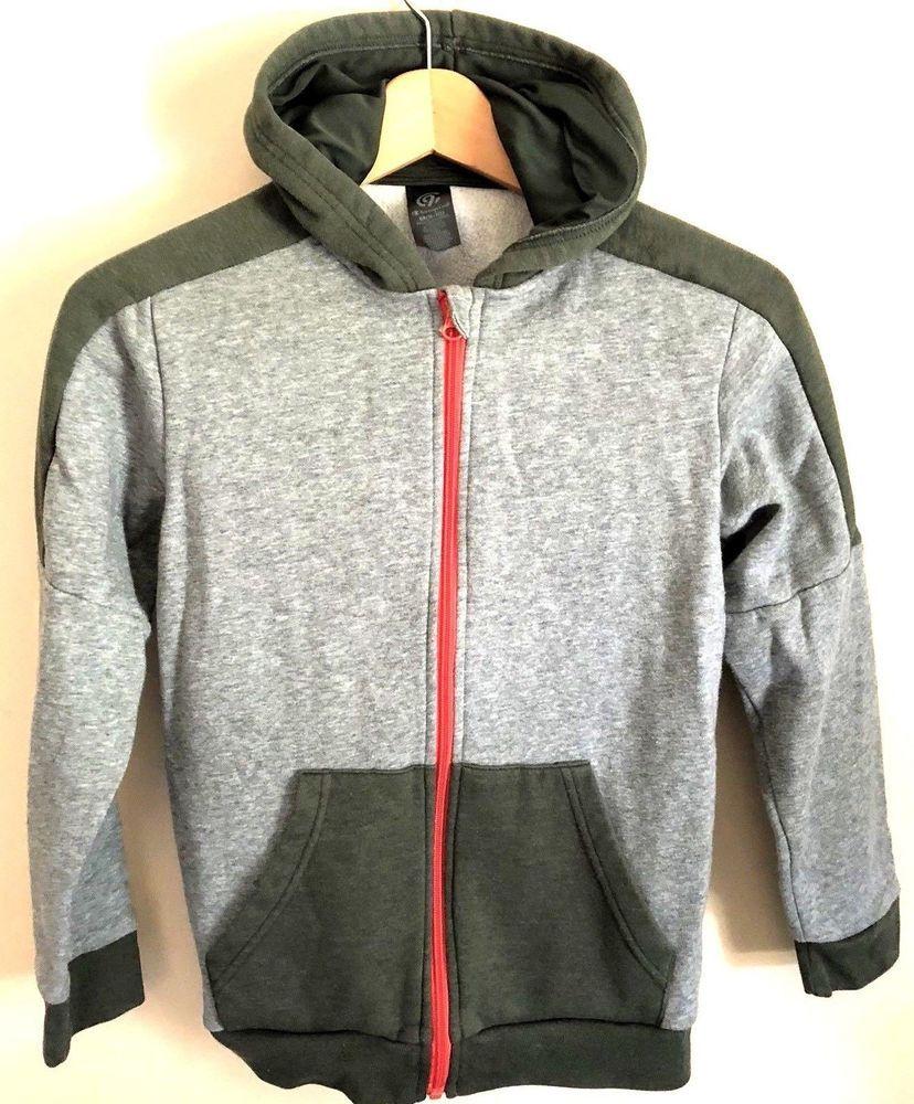 901b87e2de641 Boys Champion Athletic Hooded Sweatshirt Zip Up Gray Size Medium 8-10   Champion  Hoodie  BacktoschoolEveryday