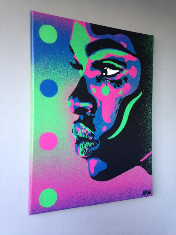 Items similar to African Woman face painting kiss 2 series stencil art spray paint art canvas beauty street art handmade urban graffiti home pop art modern on Etsy