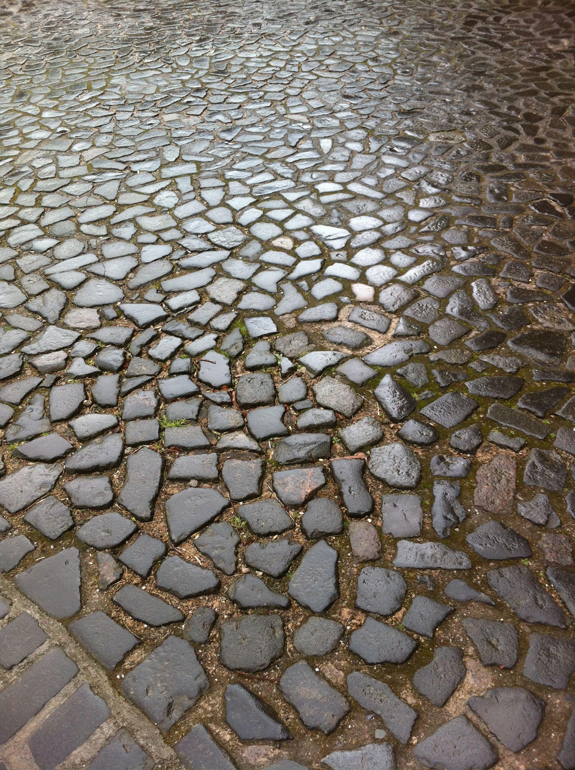 Cobble stone at Stirling Castle. I love cobble stone!